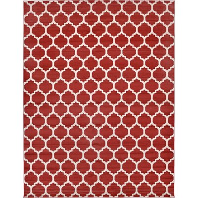 Moore Red Area Rug Rug Size: 12'2