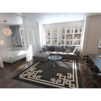 Ellery Black Area Rug Rug Size: Rectangle 2 x 3