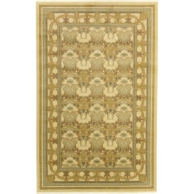 Fonciere Green Area Rug Rug Size: 106 x 165