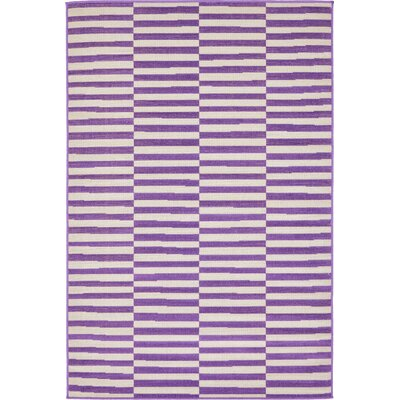 Braxton Purple Area Rug Rug Size: Rectangle 4 x 6