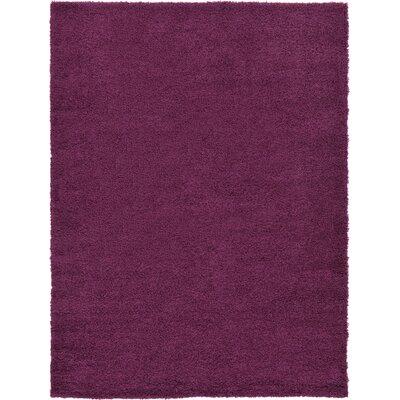 Dawe Maroon Area Rug Rug Size: 8 x 11