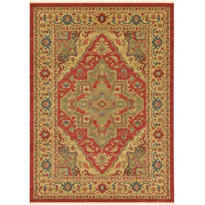 Zoey Red Area Rug Rug Size: 116 x 82