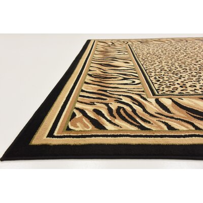 Jaina Light Brown Area Rug Rug Size: 33 x 53