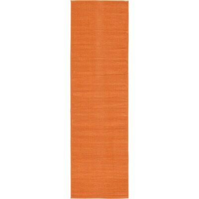 Risley Orange Area Rug Rug Size: Runner 29 x 910
