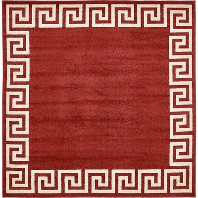 Cendrillon Terracotta Area Rug Rug Size: Square 8
