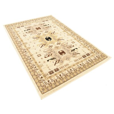 Valley Ivory/Beige Area Rug Rug Size: Rectangle 12 x 4