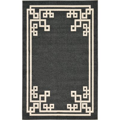 Ellery Black Area Rug Rug Size: Rectangle 5 x 8