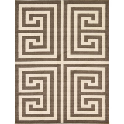 Gedrie Brown Area Rug Rug Size: 9 x 12
