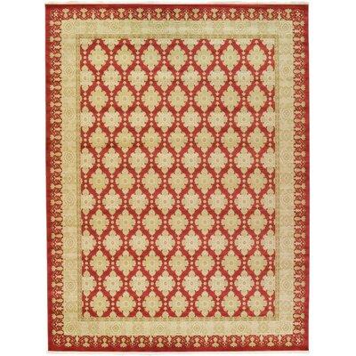 Fonciere Red/Beige Area Rug Rug Size: 122 x 16