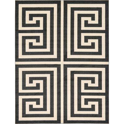 Ellery Black/Beige Area Rug Rug Size: Rectangle 9 x 12