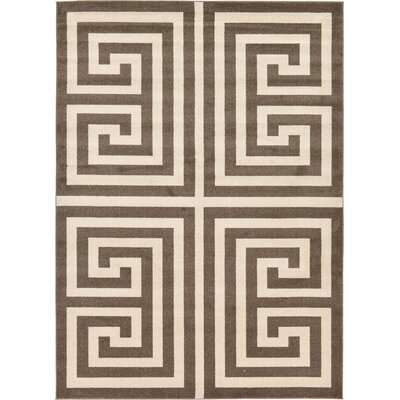 Ellery Brown Area Rug Rug Size: Rectangle 7 x 10