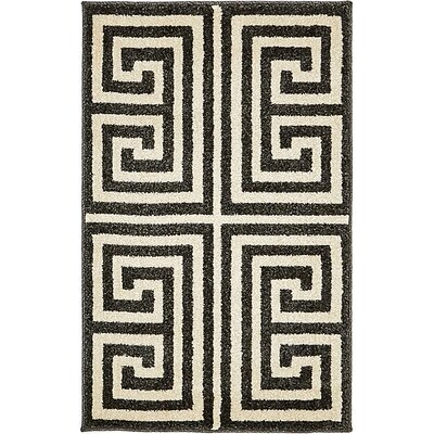Gemstone Black/Beige Area Rug Rug Size: 2 x 3
