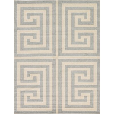 Ellery Geometric Gray Area Rug Rug Size: 9 x 12