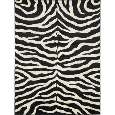 Leif Black Area Rug Rug Size: Rectangle 9 x 12