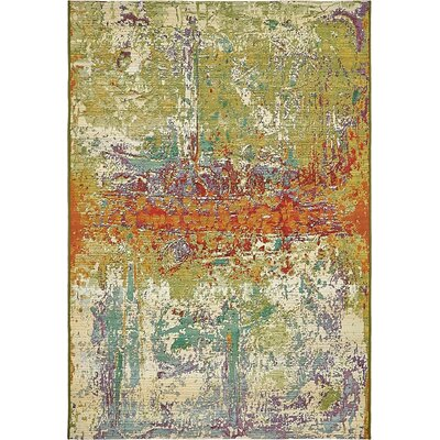 Mandy Green Indoor/Outdoor Area Rug Rug Size: Rectangle 4 x 6