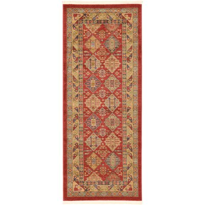 Jana Red Tibetan Area Rug Rug Size: Rectangle 67 x 27