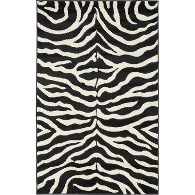 Leif Black Area Rug Rug Size: Rectangle 33 x 53