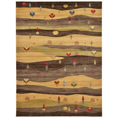 Jan Tan Abstract Area Rug Rug Size: Rectangle 9 x 12