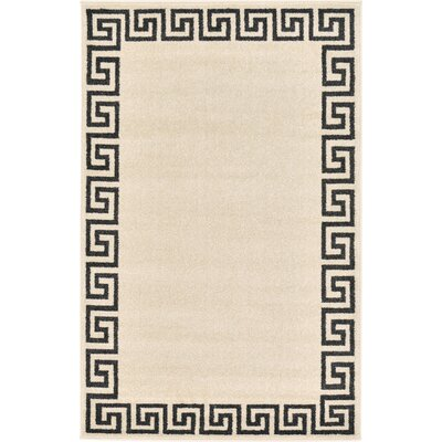 Ellery Beige/Black Area Rug Rug Size: Rectangle 3 3 x 5 3