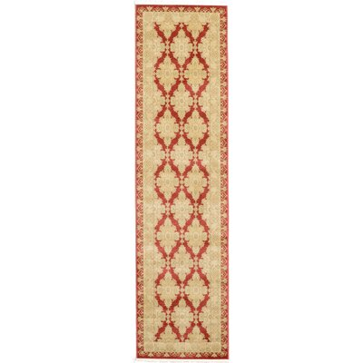 Fonciere Red/Beige Area Rug Rug Size: Runner 27 x 10