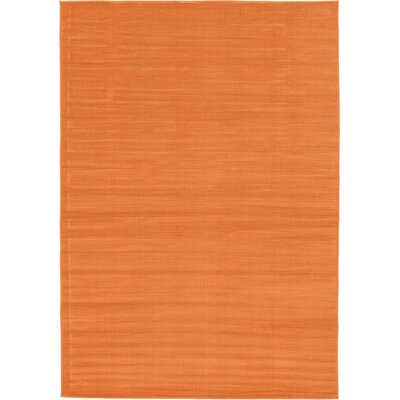 Risley Orange Area Rug Rug Size: 6 x 9