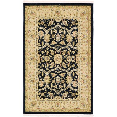 Jamar Traditional Black Oriental Area Rug Rug Size: 33 x 53