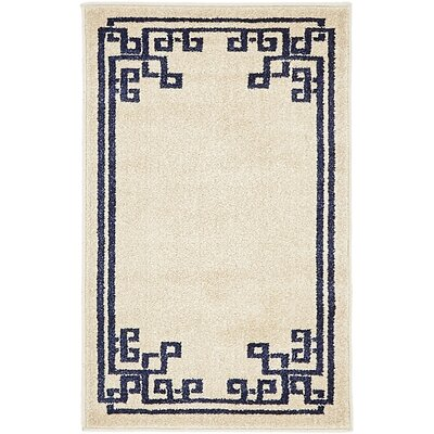 Ellery Beige Area Rug Rug Size: Rectangle 2 x 3