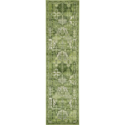 Irma Green Area Rug Rug Size: Runner 27 x 10