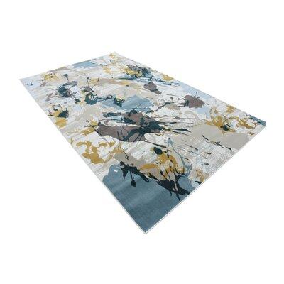 Brayden Beige/Blue Area Rug Rug Size: Rectangle 5 x 8