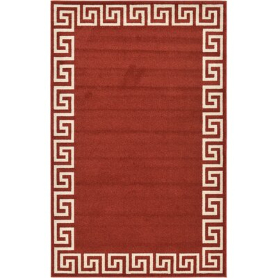 Cendrillon Terracotta Area Rug Rug Size: 5 x 8
