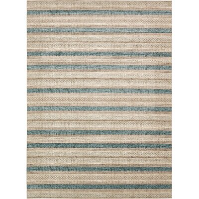 Brayden Beige/Blue Area Rug Rug Size: Rectangle 5 x 8