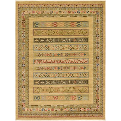 Foret Noire Tan Area Rug Rug Size: Rectangle 122 x 16