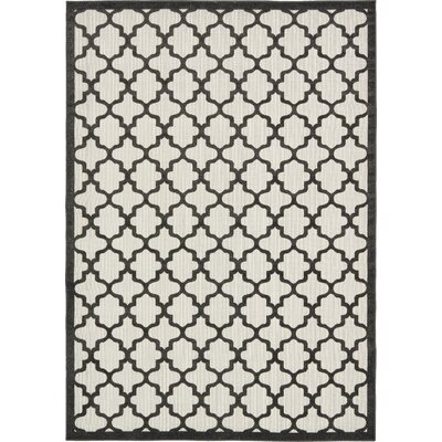 Agapius Black Indoor/Outdoor Area Rug Rug Size: Rectangle 7 x 10