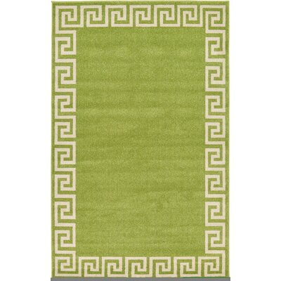Gedrie Light Green Area Rug Rug Size: 5 x 8