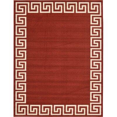 Cendrillon Terracotta Area Rug Rug Size: 9 x 12