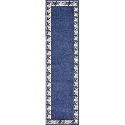 Gedrie Navy Blue Area Rug Rug Size: Runner 27 x 10