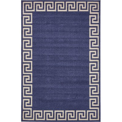 Cendrillon Blue Area Rug Rug Size: Rectangle 6 x 9