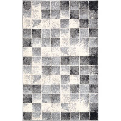 Jaina Light Gray Area Rug Rug Size: Rectangle 33 x 53