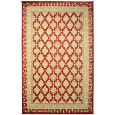 Fonciere Red/Beige Area Rug Rug Size: 106 x 165