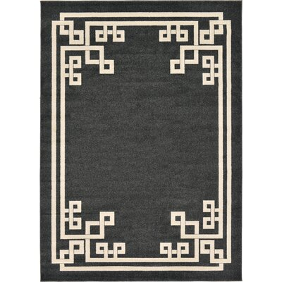 Ellery Black Area Rug Rug Size: Rectangle 7' x 10'