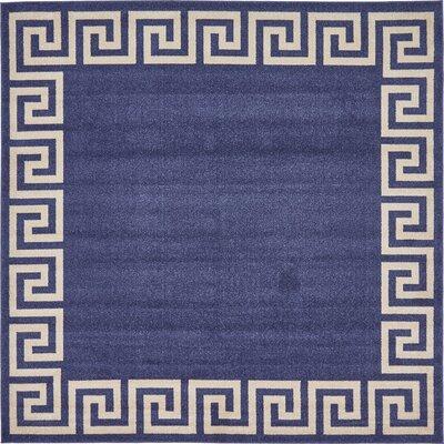 Cendrillon Blue Area Rug Rug Size: Square 8