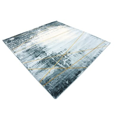 Brayden Dark Blue Area Rug Rug Size: Square 6