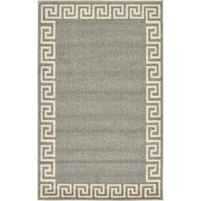 Cendrillon Gray Area Rug Rug Size: Rectangle 33 x 53