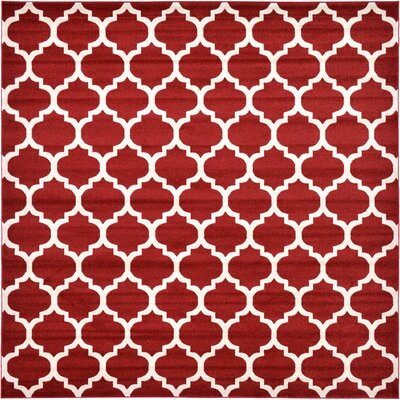 Moore Red Area Rug Rug Size: Square 8