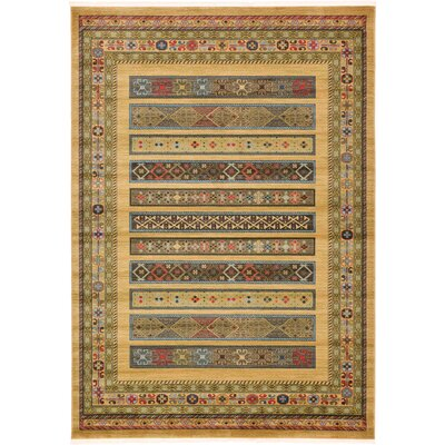 Foret Noire Tan Area Rug Rug Size: 7 x 10