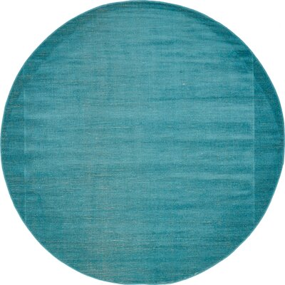 Risley Teal Area Rug Rug Size: Round 5