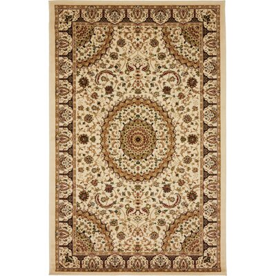 Astral Cream Area Rug Rug Size: 5 x 8