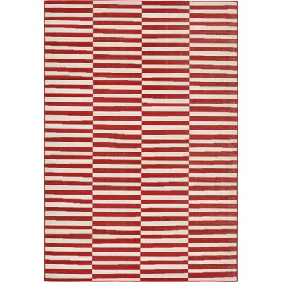 Braxton Red Area Rug Rug Size: 7 x 10