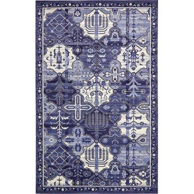 Luna Blue/Beige Area Rug Rug Size: 10 x 16