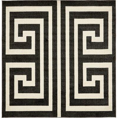 Gemstone Black/Beige Area Rug Rug Size: Square 8